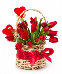 Цветы в корзине москва недорого