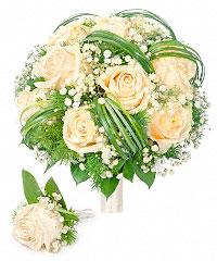 Свадебный букет невесты с доставкой по москве оригинальная доставка цветов в петербур