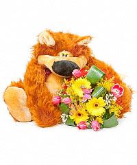 Игрушки из цветов доставка подарок на 8 марта фото прикол