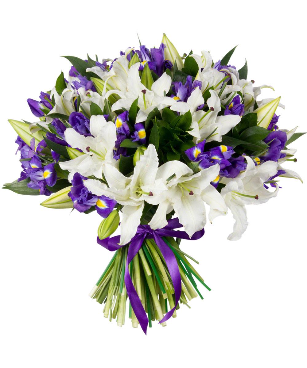 сколько фото букет лилии с эустомами поделитесь
