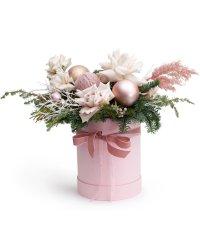 """Букет из цветов """"Зимние жемчуга"""" с доставкой по Сочи 45 - 45 см."""