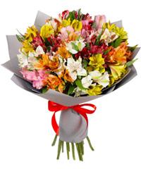 """Букет из цветов """"Восторг"""" с доставкой по Йошкар-Оле 35 - 60 см."""