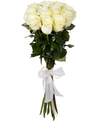"Bouquet from flowers ""White Foam "" with delivery in Vladivostok 20 - 60 cm."