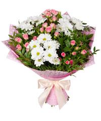 """Букет из цветов """"Цветочный блюз"""" с доставкой по Санкт-Петербургу 35 - 45 см."""