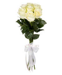 "Bouquet from flowers ""White Foam "" with delivery in Brazil 15 - 60 cm."