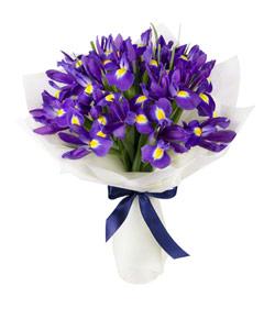 """Букет из цветов """"Букет из ирисов"""" 20 - 35 см."""