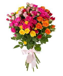 """Bouquet from flowers """"Roses Splendor"""" 30 - 60 cm."""
