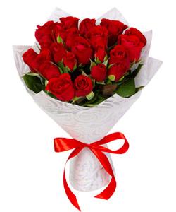 """Букет из цветов """"Букет из красных кенийских роз"""" 20 - 35 см."""