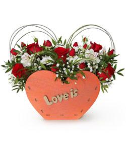 "Bouquet from flowers ""Saint Valentine"" 35 - 30 cm."
