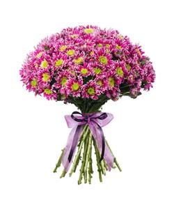 """Букет из цветов """"Букет сиреневых хризантем"""" 35 - 40 см."""