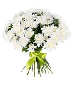 """Bouquet from flowers """"The White Angel"""" 30 - 35 cm."""