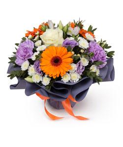 """Bouquet from flowers """"Fairy Paints"""" 25 - 25 cm."""