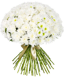 """Bouquet from flowers """"Snow Queen """" 60 - 50 cm."""