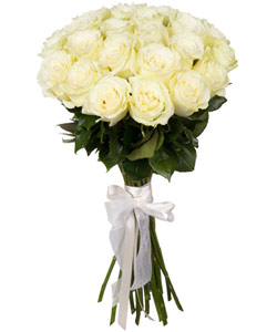 "Bouquet from flowers ""White Foam "" with delivery in Krasnoyarsk 35 - 60 cm."