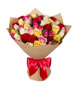 """Букет из цветов """"Букет из роз кении"""" с доставкой по Москве 25 - 40 см."""