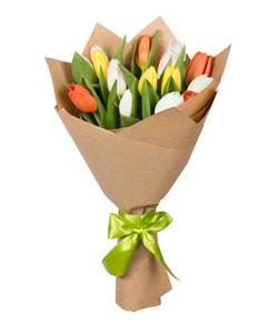 """Букет из цветов """"Букет из тюльпанов"""" 18 - 30 см."""