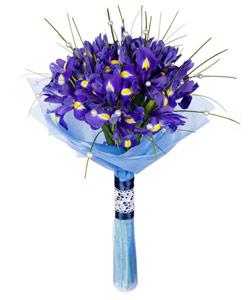 """Bouquet from flowers """"Blues Rhapsody"""" 25 - 40 cm."""