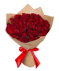 """Букет из цветов """"Букет из красных роз Кения"""" 25 - 35 см."""