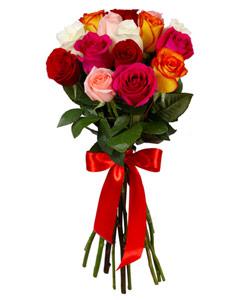 """Букет из цветов """"Букет из роз микс"""" 25 - 60 см."""