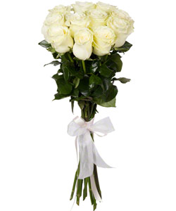 "Bouquet from flowers ""White Foam "" with delivery in Krasnoyarsk 20 - 60 cm."