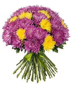 """Bouquet from flowers """"Day and Night """" 60 - 45 cm."""