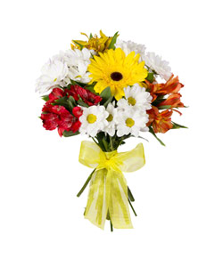 """Bouquet from flowers """"Fountain of Colour"""" 20 - 30 cm."""