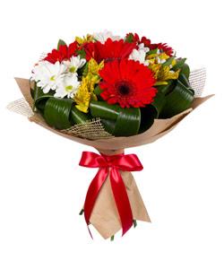 """Bouquet from flowers """"Joyful"""" 25 - 35 cm."""