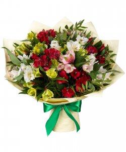 """Букет из цветов """"Теплые чувства"""" с доставкой по Новосибирску 35 - 35 см."""