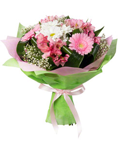 """Bouquet from flowers """"Pink Cheeks"""" 25 - 35 cm."""
